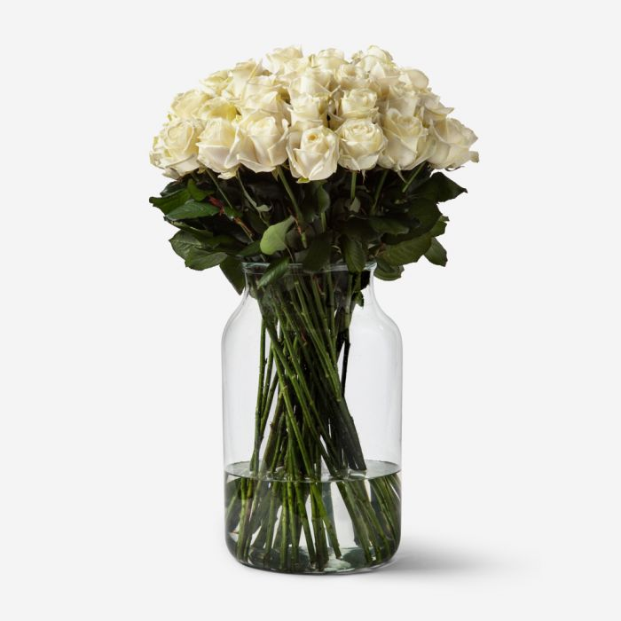 FlowerBX white rose bouquet delivery new york city