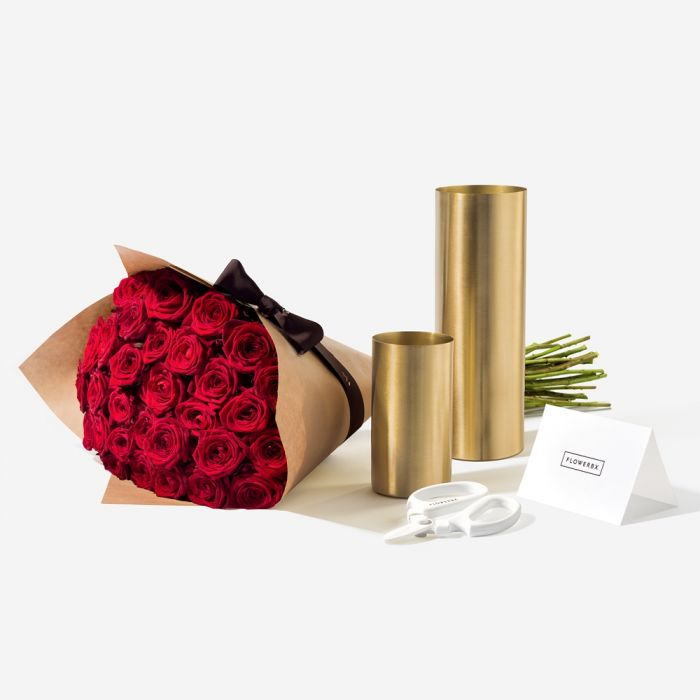 FlowerBX red rose gift set delivery new york city