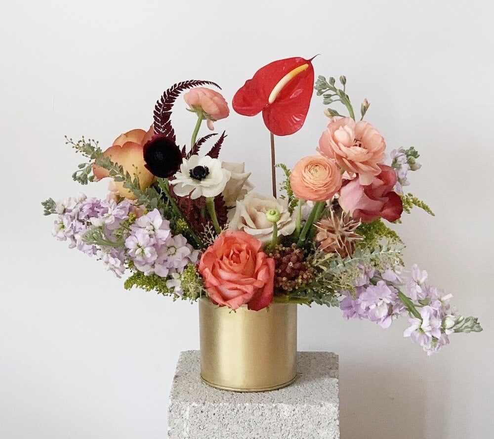 Rose Coloured flower delivery Miami