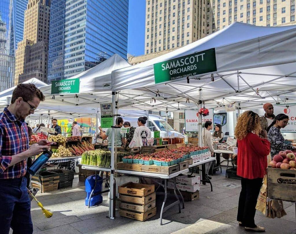 Greenmarket at Oculus Plaza NYC
