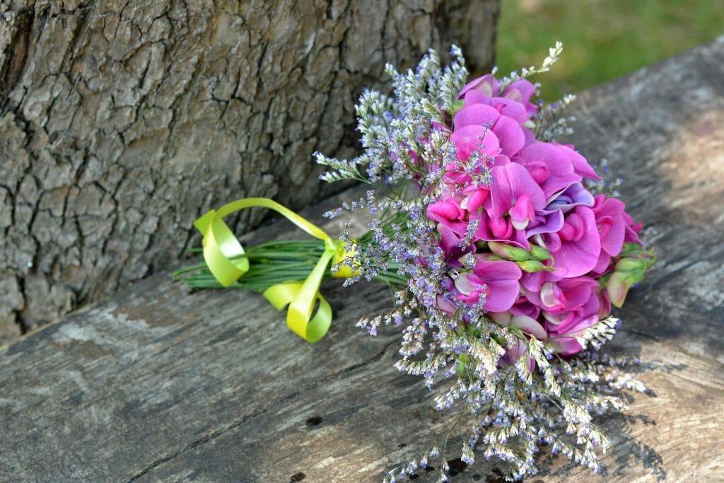 Sweet Pea Bouquet April Birthday Flowers