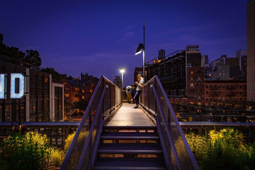 The High Line at Night New York City