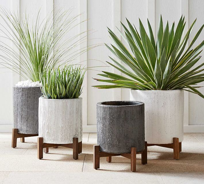 Bungalow glazed stoneware pots and planters