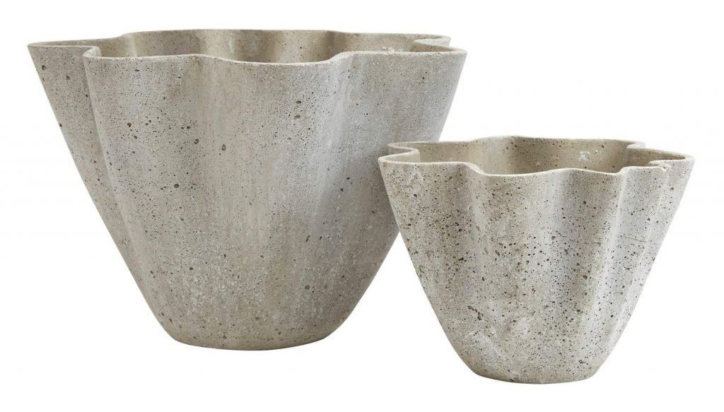 Modern and decorative Handkerchief indoor planters from Jayson Home