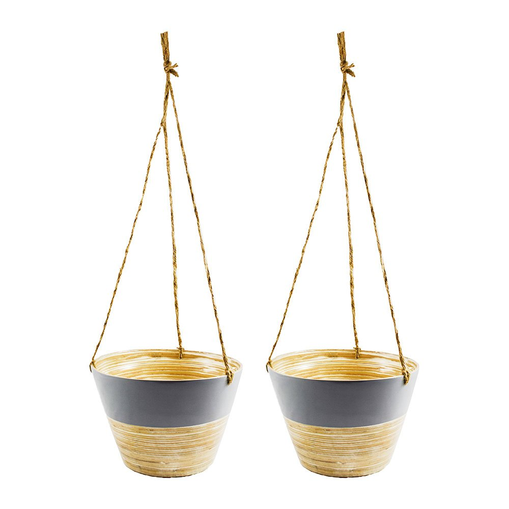 Hanging Bamboo decorative indoor planters and pots