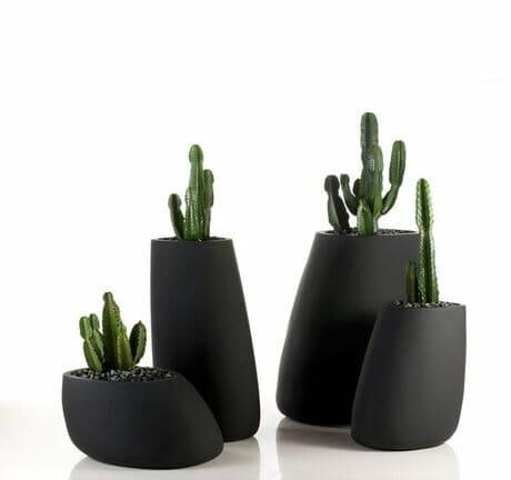 Vondom Black Stone Indoor Planters