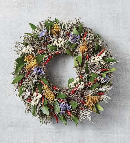 Wreaths and garlands for sale at Harry & David