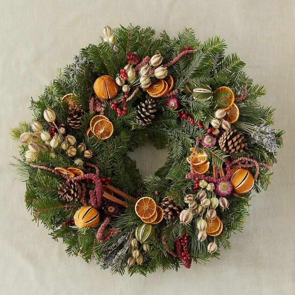 Wreaths for sale at Terrain