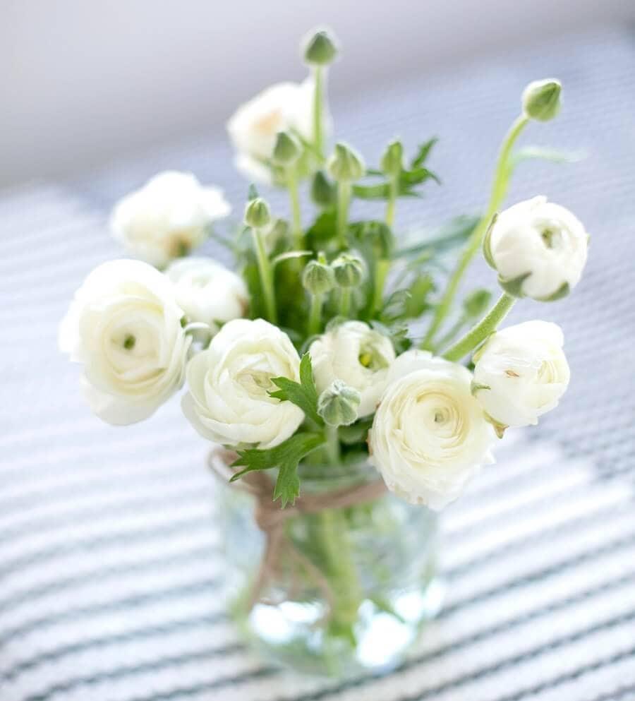 Ranunculus Flower Vase Arrangements