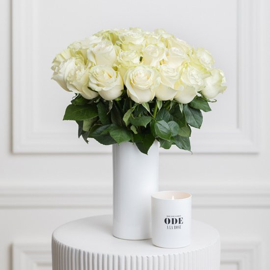 Ode a la Rose White Roses Same Day Flower Delivery in NYC