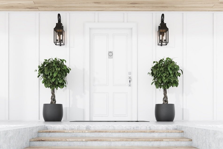 The Best Color for Your Front Door (and Flowers) According to Feng Shui