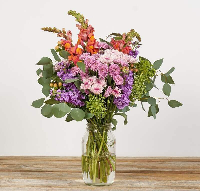 The Bouqs flower subscription service in Los Angeles County.