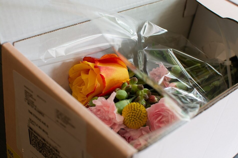 UrbanStems Flowers in Box on Delivery