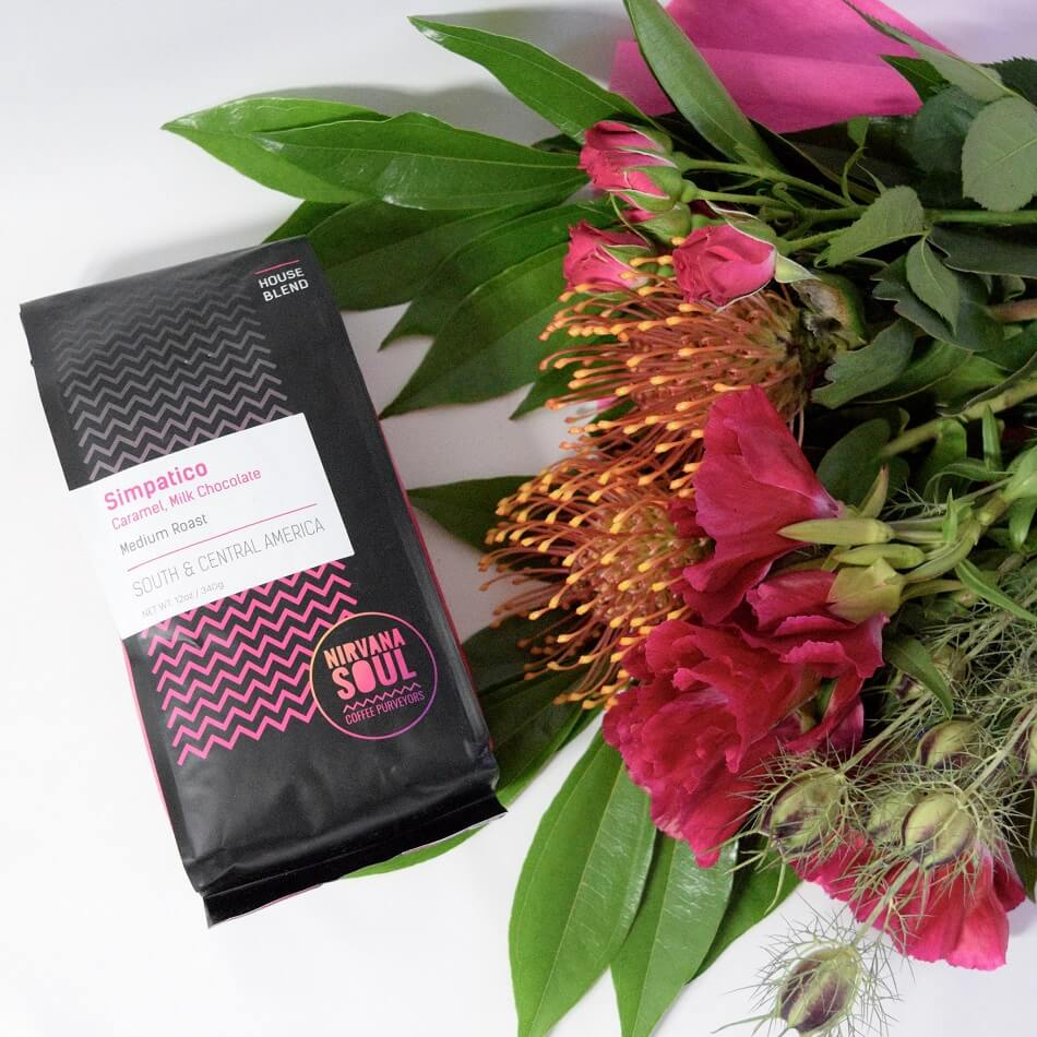 Project Fleur Coffe and Flower Combo Gift Baskets for Delivery in San Jose, CA